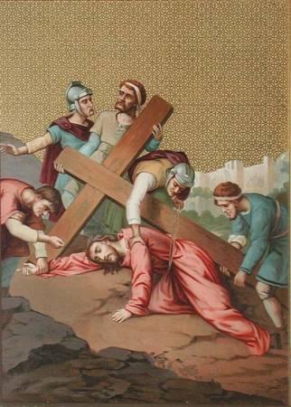 Ісус третій раз упадає під хрестом