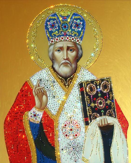 Игнорирование, открытка с ликами святых